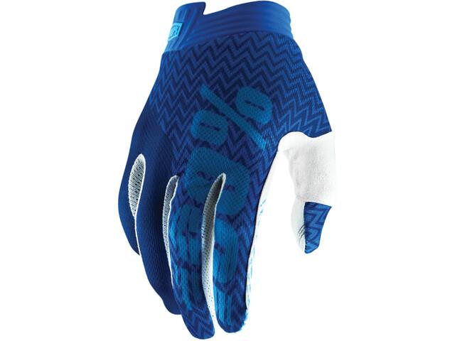 100% iTrack Gloves blue/navy